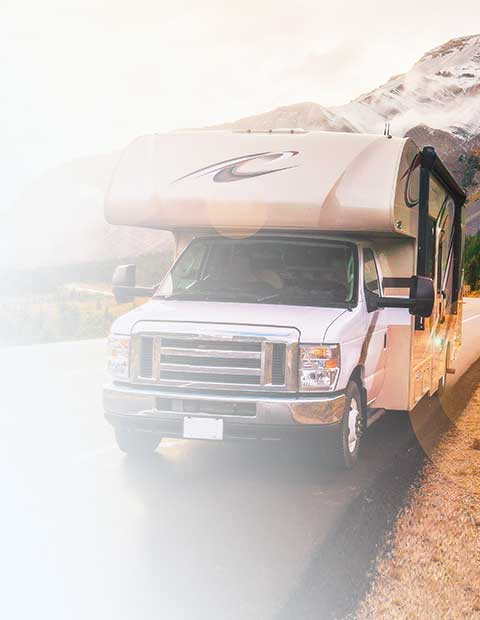 woman enjoying traveling with her RV