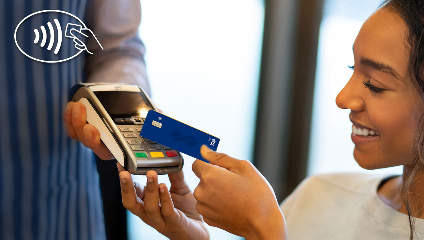 using a southstate contactless card at a store